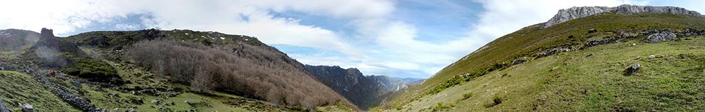panorama do parque natural de Somiedo